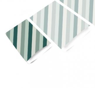 Cadeauzakjes Diagonal stripes petrol 12 x 19