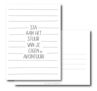 Ansichtkaart Sta aan het stuur van je eigen avontuur!