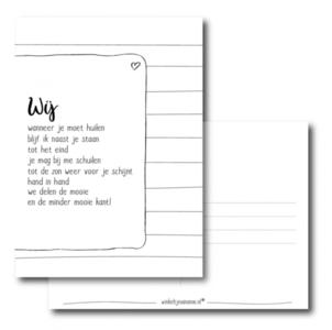 Ansichtkaart Gedichtje wij