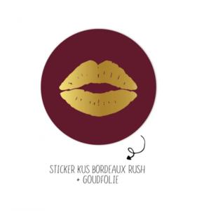 Sticker Kus bordeaux rush