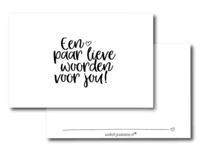 Mini kaartje Een paar lieve woorden voor jou!
