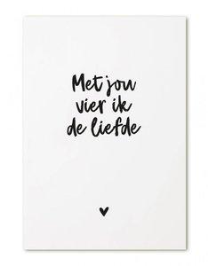 Ansichtkaart Met jou vier ik de liefde