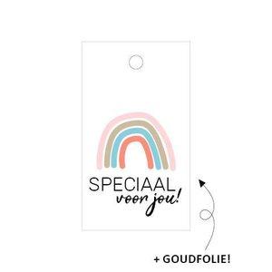 Cadeaulabel Speciaal voor jou (regenboog)