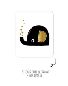 Sticker Cute elephant
