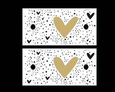 Cadeaulabel Hearts and dots