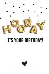Cadeaulabel Hooray it's your birthday