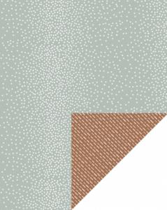 Cadeaupapier Dots green/dashes brown