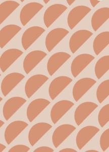 Cadeaupapier Sunset nude/orange