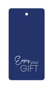 Cadeaulabel Enjoy your gift blue/white
