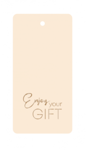 Cadeaulabel Enjoy your gift nude/copper