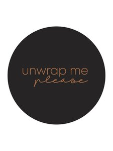 Sticker Unwrap me please black/copper