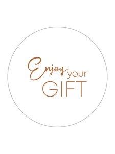 Sticker Enjoy your gift white/copper