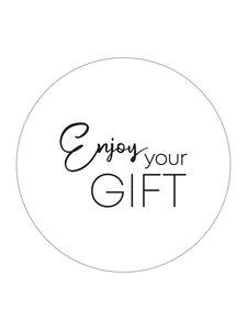 Sticker Enjoy your gift white/black