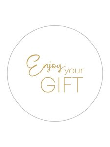 Sticker Enjoy your gift eco nature white/gold