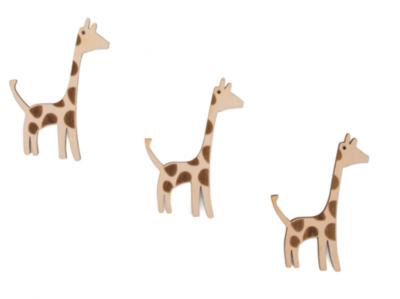 Cadeaulabel houten giraf