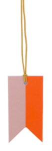 Paper Tag Flag Duo Lemonade Pink/Orange