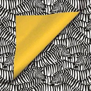 Cadeaupapier Zebra black/white/yellow