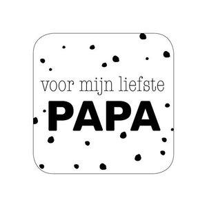 Sticker Voor mijn liefste papa (zwart/wit)