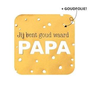 Sticker Jij bent goud waard papa