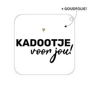 Sticker Kadootje voor jou! (vierkant)