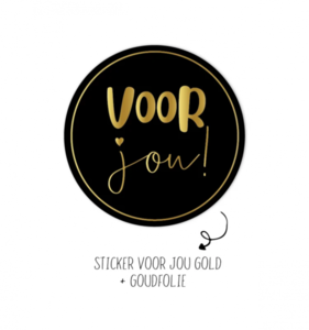 Sticker Voor jou!