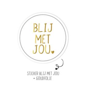 Sticker Blij met jou