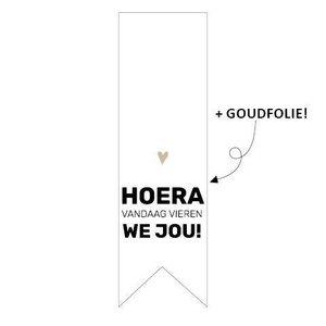 Sticker Vaantje Hoera vandaag vieren we jou!