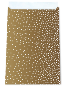 Cadeauzakjes Little dots gold 12 x 19