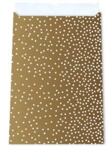 Cadeauzakjes Little dots gold 17 x 25