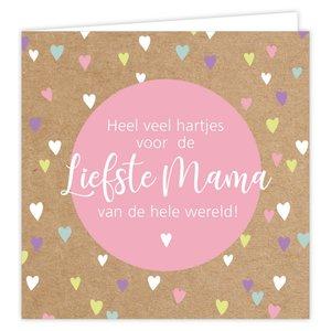 Wenskaart Heel veel hartjes voor de liefste mama van de hele wereld!