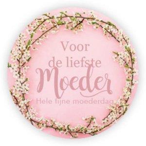 Sticker Voor de liefste moeder, hele fijne moederdag