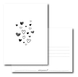 Ansichtkaart Liefde in de lucht!