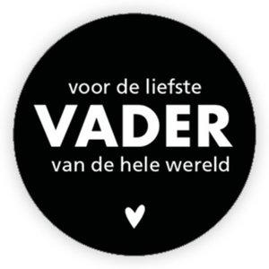 Sticker Voor de liefste vader van de hele wereld
