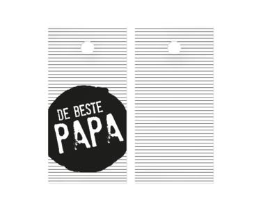 Cadeaulabel De beste papa