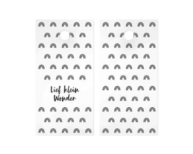 Cadeaulabel Lief klein wonder black/white