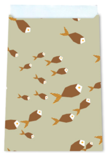 Cadeauzakjes Fishes green 12 x 19
