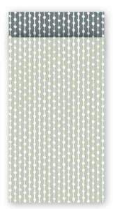Cadeauzakjes Connecting dots natural salie/grijs 7 x 13