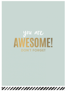Ansichtkaart You are awesome!