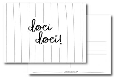 Ansichtkaart Doei Doei
