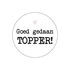 Sticker Goed gedaan topper!