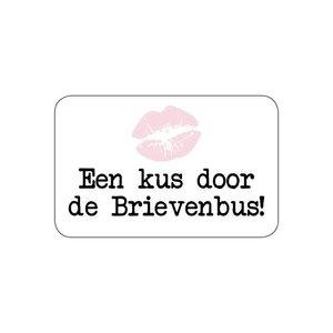 Sticker Een kus door de brievenbus!