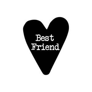 Sticker hart Best friend