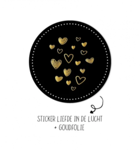 Sticker Liefde in de lucht