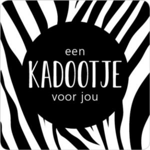 Sticker Een kadootje voor jou (zebra)