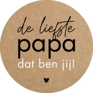 Sticker De liefste papa dat ben jij! kraft