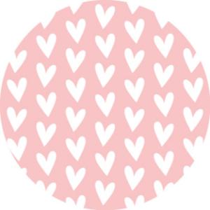 Sticker Hearts white/pink