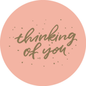 Sticker Thinking of you