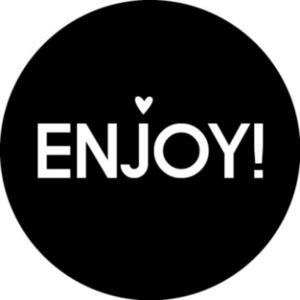 Sticker Enjoy! (rond)