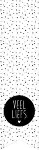 Sticker Label Veel liefs (dots)
