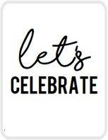 Sticker Let's celebrate